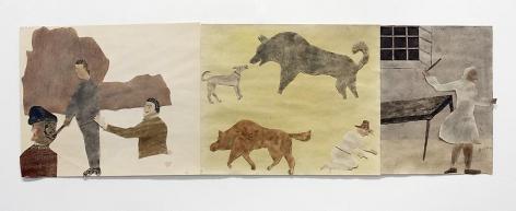 "ALT=""Jockum Nordström, Komponisten (The Composer), 2013, Collage, watercolor and graphite on paper"""