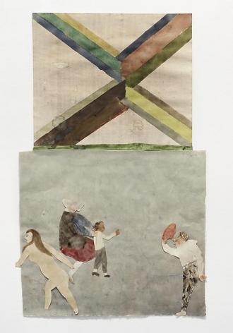 "ALT=""Jockum Nordström, Förgiftning (Poisoning), 2013, Collage, watercolor and graphite on paper"""
