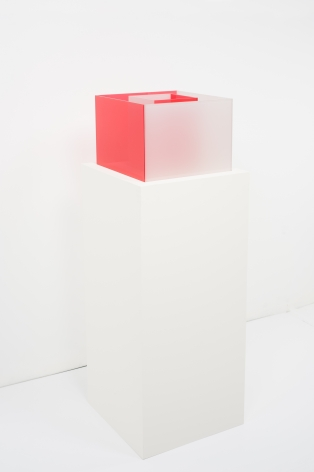 Larry Bell, Untitled, Maquette (Poppy / True Fog), 2018, Laminated glass