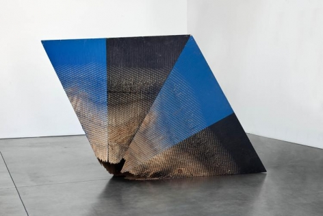 "ALT=""Michael DeLucia, Projection, 2012, Plywood and construction enamel"""