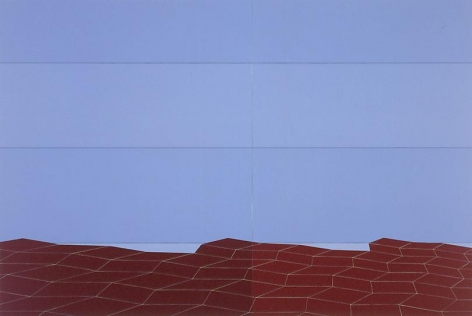 , Clay Steps to Sea and Striped Sky, 2004