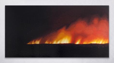 "ALT=""Teresita Fernandez, Fire (America), 2016, Glazed ceramic"""