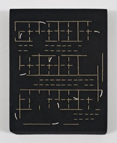 """ALT=""""Rodrigo Cass, Estudo Para Uma Revolucao / Study of a Revolution, 2018, Concrete, white concrete and tempera on linen"""""""