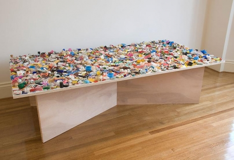 "ALT=""Tony Feher, (Same), 2008, Accumulated material to be spread evenly on a painted surface"""
