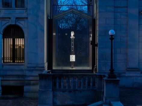 """ALT=""""Donald Moffett, Installation view, 2013, American Academy of Arts and Letters"""""""