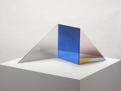 Larry Bell, TRIOLITH-C (Lapis / Sea Salt / Blush) C, 2020