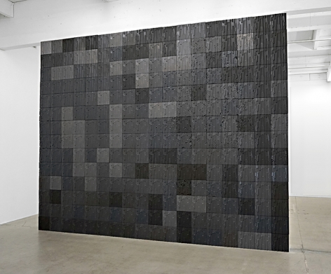 Mark Hagen, To Be Titled (Additive Sculpture, Rampart Tile Wall #2), 2012 - 2015