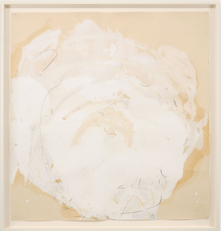 """ALT=""""Joseph Havel, Weather Sphere II, 2012-2014, Graphite, oil paint and oil stick on paper"""""""