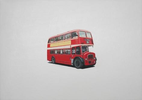 "ALT=""Jeremy Dickinson, Civic Pride (York Lodekka), 2011, Oil and acrylic on canvas"""