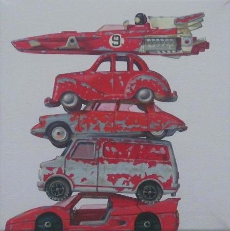 , Five Reds #2, 2010
