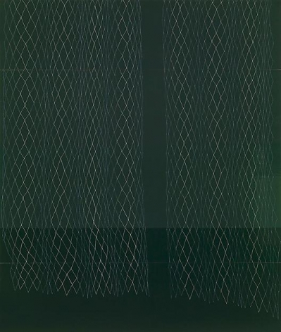, Dark Green Lace Curtain, Small Sway, 2008