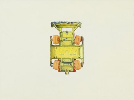 """ALT=""""Jeremy Dickinson, Bulldozer, 1997, Oil and acrylic on canvas"""""""