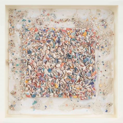"""ALT=""""Leonardo Drew,Number 91SD, 2021, Plaster and paint on paper"""""""