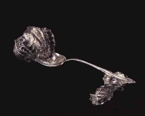 """ALT=""""Janine Antoni, Umbilical, 2000, Sterling silver cast"""""""