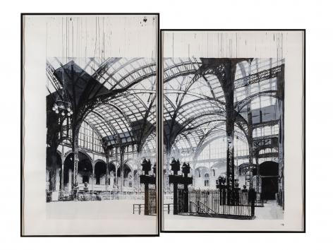 "ALT=""Dave Muller, Erase You (Penn Station, 1962), 2012, Acrylic on paper"""