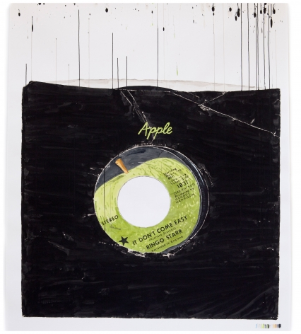 """ALT=""""Dave Muller, Apple Core, Nothing More. Who's Your Friend (Ringo), 2012, Acrylic on paper"""""""