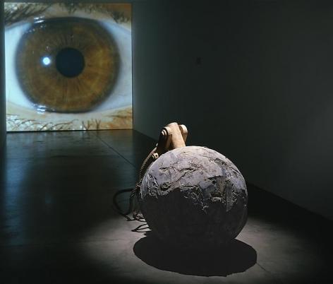"ALT=""Janine Antoni, Tear, 2008, Lead, steel, HD video projection with surround sound"""