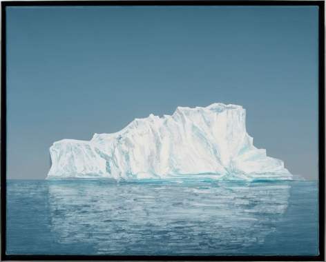 "ALT=""Rob Reynolds, Iceberg #1 (Disko Bay, 69.2667° N, 52.0447 7° W Greenland, 22 July 2019, 9:15 PM), 2021, Oil, alkyd and acrylic polymer paint on canvas in welded aluminum artist's frame"""