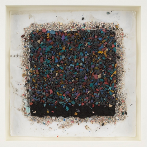 """ALT=""""Leonardo Drew, Number 92SD, 2021, Plaster and paint on paper"""""""