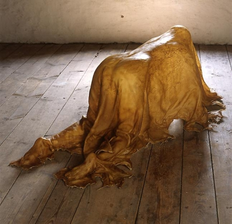 "ALT=""Janine Antoni, Saddle, 2000, Full rawhide"""