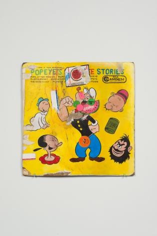 "ALT=""Kristen Morgin, (Popeye's), 2015, Unfired clay, paint, ink, marker and ballpoint pen"""