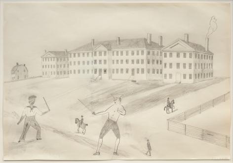 "ALT=""Jockum Nordström, Duello, 2009, Graphite on paper"""