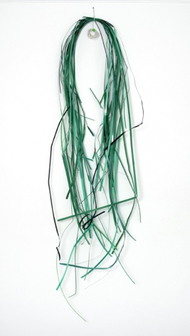 "ALT=""Tony Feher, Untitled, 2007, Plastic strapping, metal strapping, cotton twine and screw"""