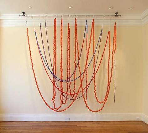 "ALT=""Tony Feher, Untitled, 2012, PVC tubing, rope and steel pipe"""