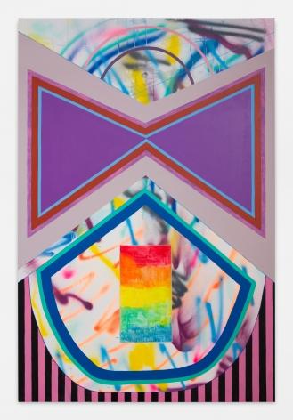 """ALT=""""Sarah Cain, Black Widow, 2018, Acrylic, beads, gouache, prisms on canvas"""""""