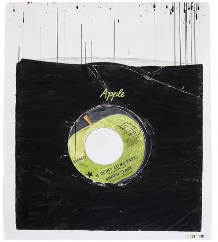 "ALT=""Dave Muller, Apple Core, Nothing More. Who's Your Friend (Ringo), 2012, Acrylic on paper"""