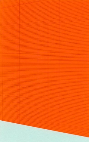 , Electric Orange Bamboo Shade (Powder Blue Sill), 2004