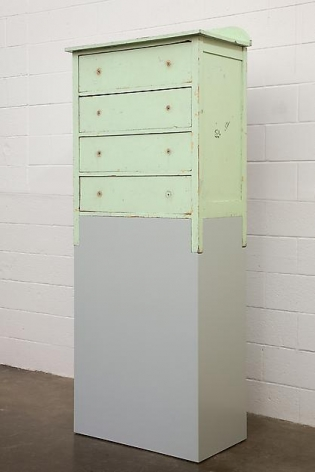 A Green Chest of Drawers with No Knobs, 2013,