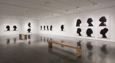 "ALT=""Erica Deeman, Installation view of Silhouettes, 2017, Fifteen inkjet prints"""