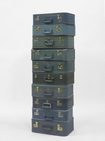 "ALT=""Zoe Leonard, Untitled, 2005, 10 blue suitcases"""