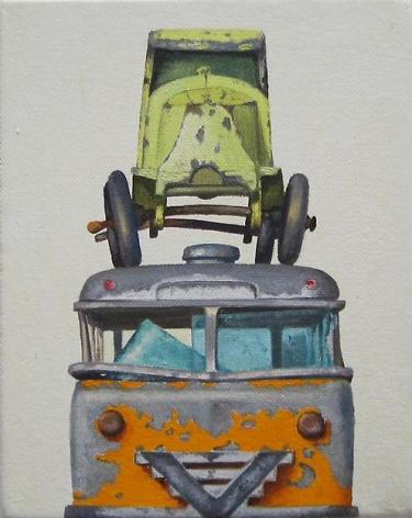 "ALT=""Jeremy Dickinson, Postbus, 2013, Oil and acrylic on canvas"""