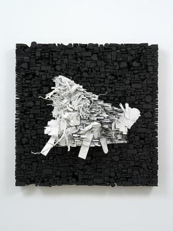 """ALT=""""Leonardo Drew, Number 30S, 2014, Wood and paint"""""""