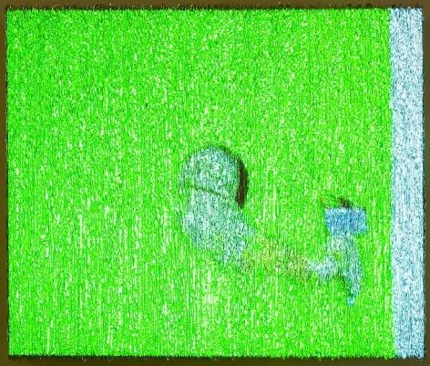 , Untitled/Green Brush, 2004
