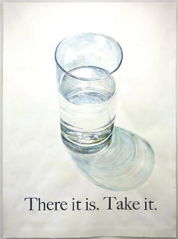 """ALT=""""Rob Reynolds, A Glass of Drinking Water, 2013, Watercolor, gouache and ink on paper in artist frame"""""""