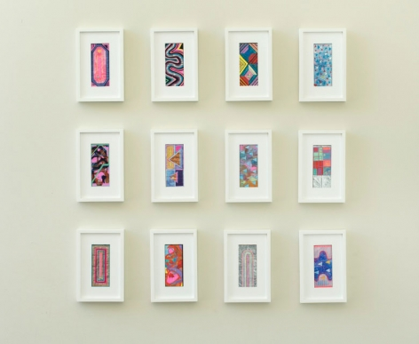 "ALT=""Sarah Cain, $ talismans, 2015, Set of twelve works"""