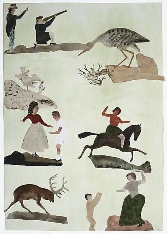 "ALT=""Jockum Nordström, Human Form Divine, 2010, Watercolor, graphite, and collage on paper"""