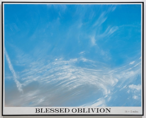 Rob Reynolds, Untitled (blessed oblivion 1), 2012, Oil, alkyd and India ink on canvas, 48 3/4 x 60 3/4 inches