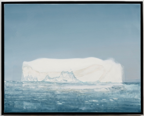 """ALT=""""Rob Reynolds, Iceberg #2 (Sermeq Kujalleq 69.1667° N, 49.9167° W Greenland, 21 July 2019, 5:00 AM), 2021, Oil, alkyd and acrylic polymer paint on canvas in welded aluminum artist's frame"""""""