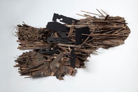 "ALT=""Leonardo Drew, Number 11S, 2011, Wood"""