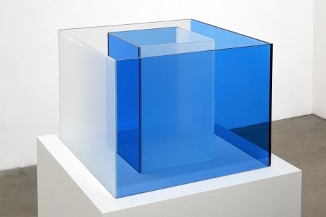 Larry Bell, Untitled Maquette (Cornflower Blue / True Sea Salt), 2018
