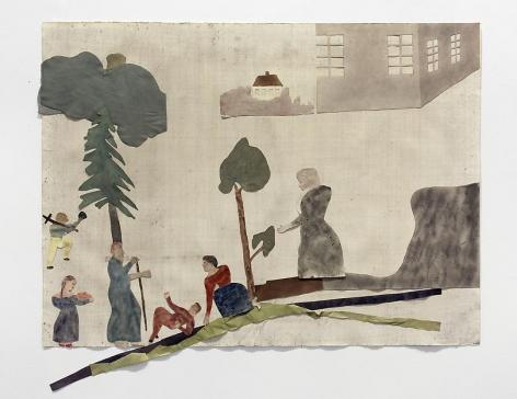 "ALT=""Jockum Nordström, Nå? (Well?), 2013, Collage, watercolor and graphite on paper"""
