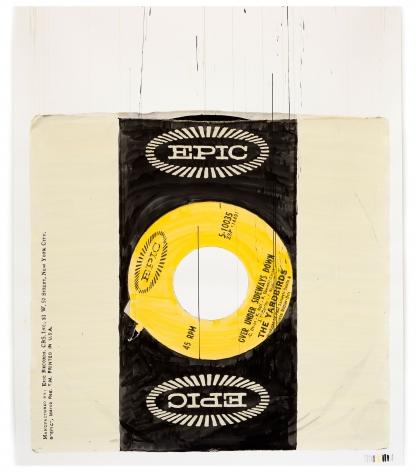 "ALT=""Dave Muller, Asideways, 2012, Acrylic on paper"""