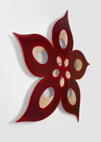 Donald Moffett, Lot 091118 (ruby dissected), 2018