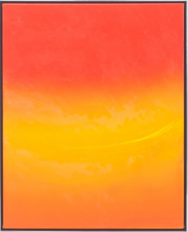 Rob Reynolds, Magic Hour, 2018, Oil, alkyd and acrylic gesso on canvas in welded aluminum frame