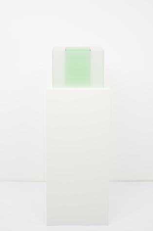Larry Bell, Untitled Maquette (True Sea Salt / Kelp), 2018