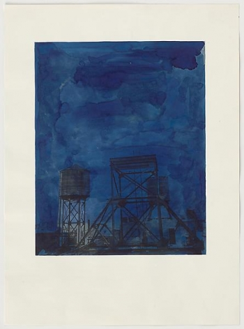 Rachel Whiteread Water Tower at Night, 1998